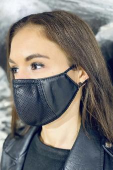 Behelfs-Mundschutz Damen Leder