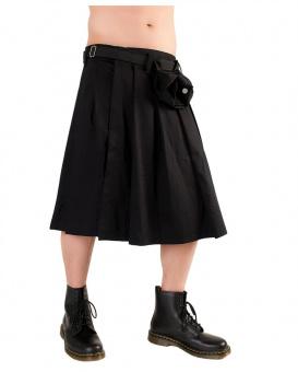 Black Pistol Short Kilt Denim black