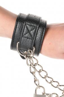 Lux Fetish Unisex Leatherette Fauxfur Cuffs