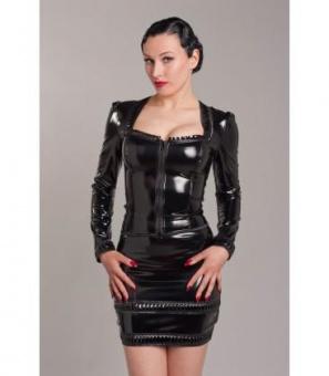 Peter Domenie 844 Fire Short Skirt Zipper black